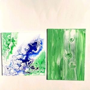 Original art set of abstract nature paintings